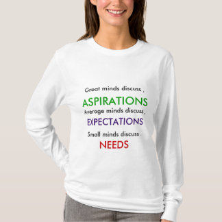 ASPIRATIONS Expectations Needs JAN 16 2011 T-Shirt