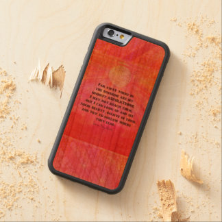 Aspirations quote Louisa May Alcott Carved® Cherry iPhone 6 Bumper