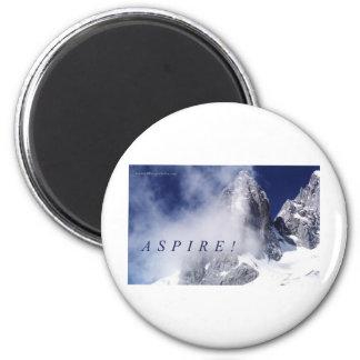 Aspire! 2 Inch Round Magnet