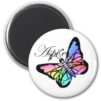 Aspire~Butterfly 2 Inch Round Magnet