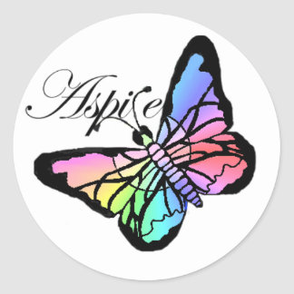 Aspire~Butterfly Pegatina Redonda