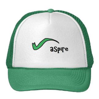 Aspire en verde gorras de camionero