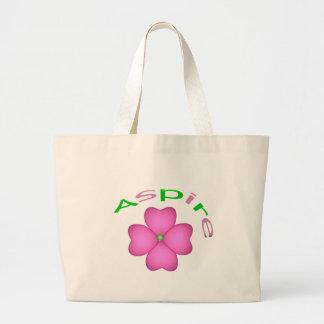 Aspire Flower Jumbo Tote Bag