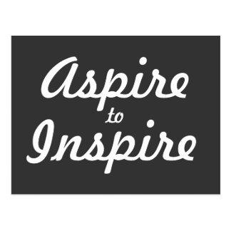 Aspire inspiran la postal de motivación