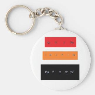 Aspire Inspire Empower Basic Round Button Keychain