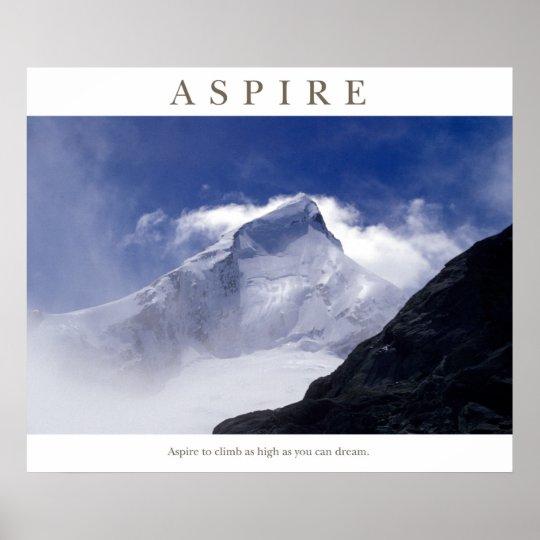 Aspire - Mt Aspiring Poster