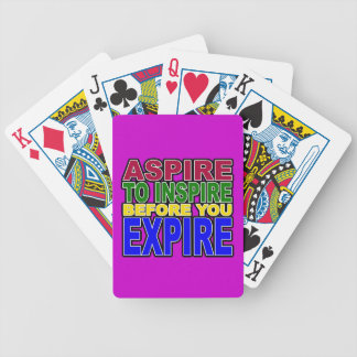 ASPIRE TO INSPIRE BEFORE YOU EXPIRE BICYCLE PLAYING CARDS