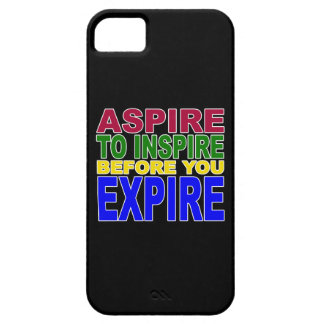 ASPIRE TO INSPIRE BEFORE YOU EXPIRE on Black iPhone 5 Cover