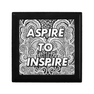 ASPIRE TO INSPIRE - Positive Statement Quote Jewelry Box