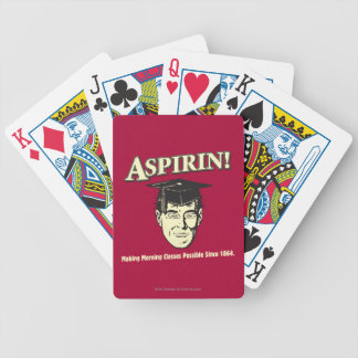 Aspirin: Make Morning Class Possible Bicycle Playing Cards