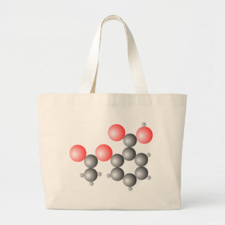 Aspirin Molecular Structure Large Tote Bag