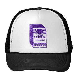 Aspirin púrpura gorras