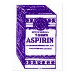 Aspirin púrpura tarjeta postal