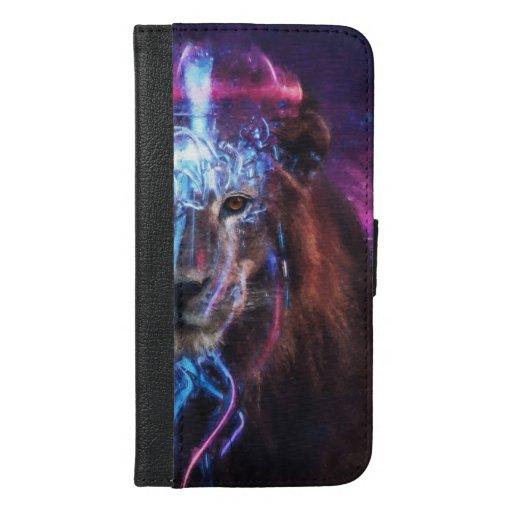 Aspiring Adventure - Abstract Lion Universe  iPhone 6/6s Plus Wallet Case