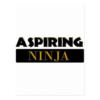 Aspiring Ninja Postcard