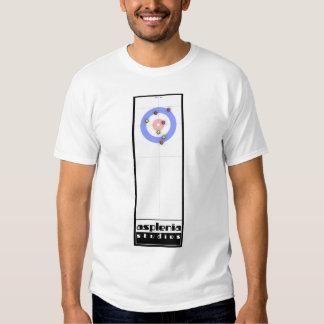 Asplenia Studios Curling (white fabric) T Shirt