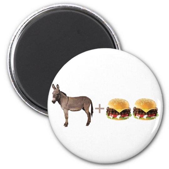 Ass Burgers 2 Inch Round Magnet