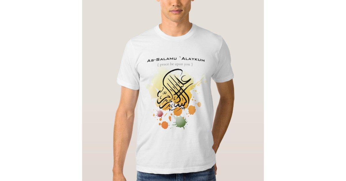 Assalamu 39 Alaikum Arabic Calligraphy Art Tee Shirt Zazzle