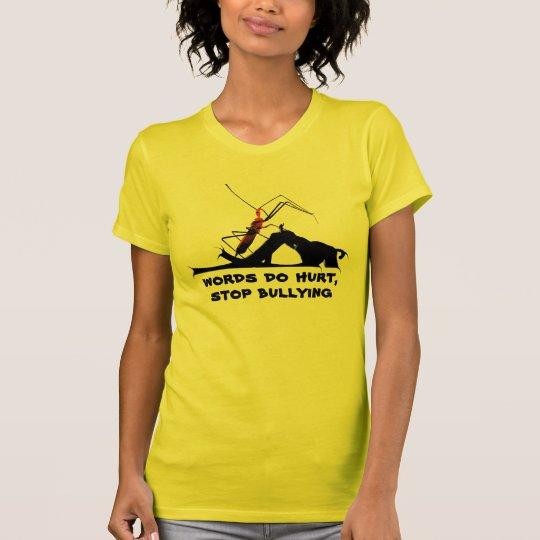 ff66eac6 Assassin Bug Dagger Mouth Stop Bullying Awareness T-Shirt | Zazzle.com