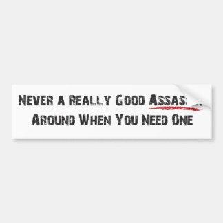 """Assassin"" Bumper Sticker"