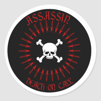 Assassin Classic Round Sticker