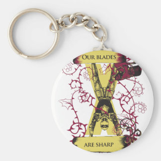 assassin our blades are sharp keychain