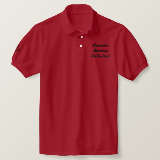 Assassin Services Unlimited company shirt
