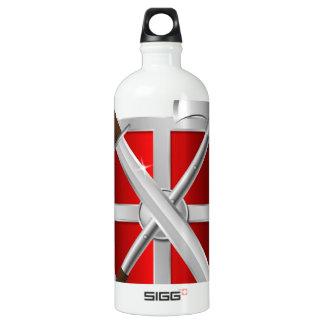 assassin Shield Axe sward Aluminum Water Bottle