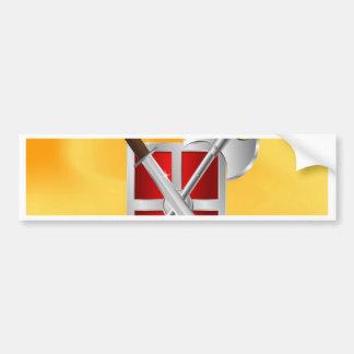 assassin Shield Axe sward Bumper Sticker