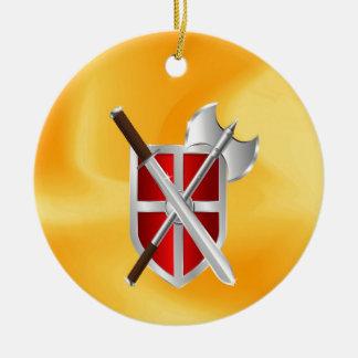 assassin Shield Axe sward Ceramic Ornament