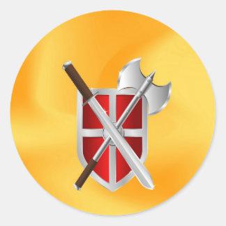 assassin Shield Axe sward Classic Round Sticker