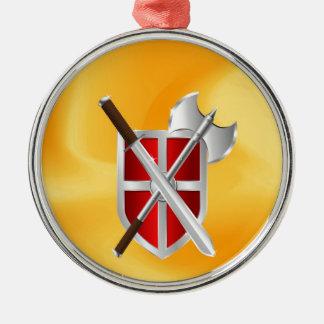 assassin Shield Axe sward Metal Ornament