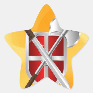 assassin Shield Axe sward Star Sticker