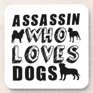 assassin Who Loves Dogs Coaster