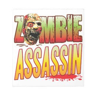 Assassin Zombie Head Notepads