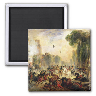 Assassination Attempt on King Louis-Philippe 2 Inch Square Magnet