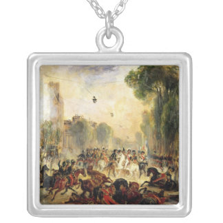 Assassination Attempt on King Louis-Philippe Silver Plated Necklace