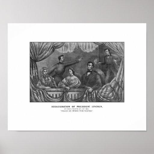 Assassination of President Lincoln Print