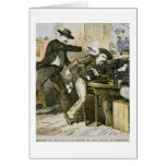 Assassination of 'Wild Bill' (W.B. Hickok) by Jack Greeting Card