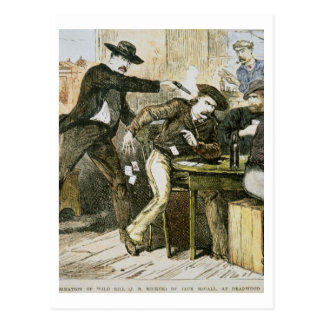 Assassination of 'Wild Bill' (W.B. Hickok) by Jack Postcard