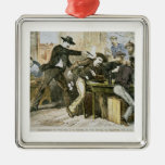 Assassination of 'Wild Bill' (W.B. Hickok) by Jack Square Metal Christmas Ornament