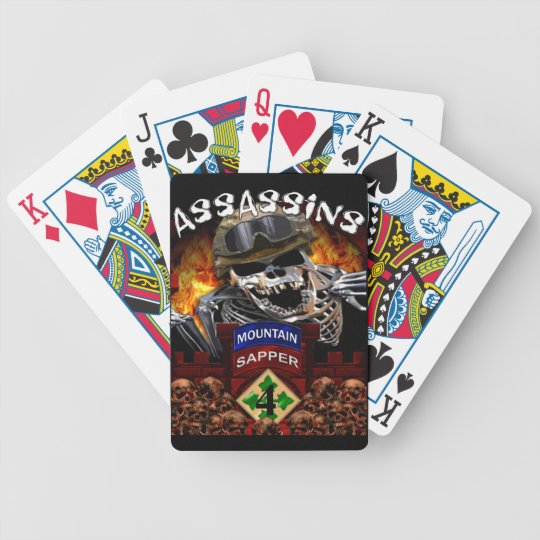 Assassins 4BSTB/4IBCT/4ID Bicycle Playing Cards