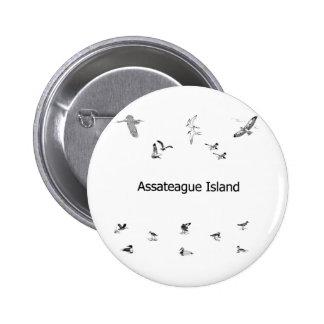 Assateague Island Birdwatching Line Art Button