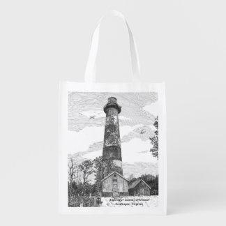 Assateague Island Lighthouse Reusable Grocery Bag