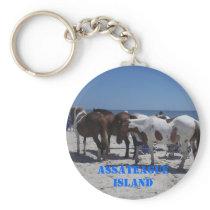 Assateague Island Ponies Keychain