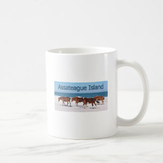 Assateague Island (ponies on beach logo) Coffee Mug
