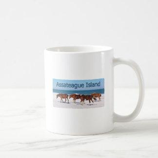 Assateague Island (ponies on beach logo) Coffee Mug