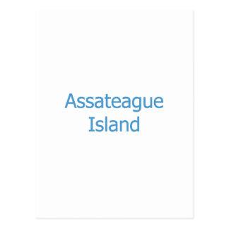 Assateague Island (text) Postcard