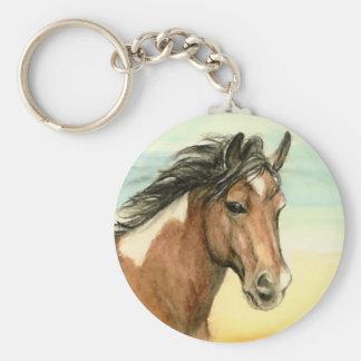 """""""Assateague Pony"""" Horse Art Keychain"""