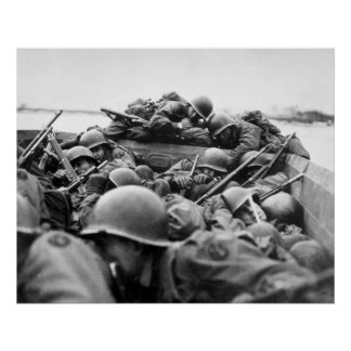 Assault Boat Crossing the Rhine in World War II Print